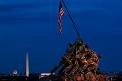 Marine Corps Memorial (skippys1229) Tags: longexposure monument statue canon rebel washingtondc washington americanflag marines arlingtonvirginia iwojimamemorial iwojima 2012 hss marinecorpsmemorial rebelt1i t1i canonrebelt1i sliderssunday