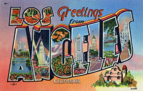 Greetings from Los Angeles, California - Large Letter Postcard