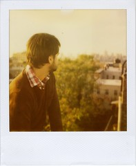 the view from brooklyn (snacky.) Tags: nyc roof portrait film brooklyn polaroid sx70 600 instant expired greenpoint 2012 roidweek