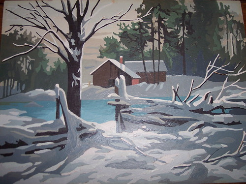 Paint by Number - Winter Scene