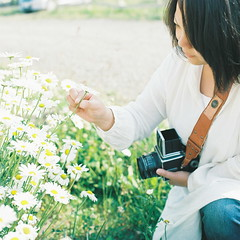 (kajico**) Tags: people film girl japan square hasselblad freind biei hokkaido2012