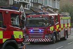 House Fire A2 Strood (jf01350) Tags: street uk blue light two house fire lights kent engine blues engines fireman firemen emergency tone siren a2 medway appliance apparatus breathing scania sirens watling strood
