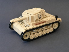 Lego ww2 -Panzer III Ausf. F- (=DoNe=) Tags: world 2 by viktor war tank lego iii afrika medium custom done panzer korps campain