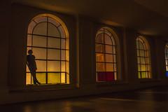 Silhouette (cmedek) Tags: shadow portrait urban color abandoned philadelphia church window silhouette self dark long exposure theater theatre decay exploration ue urbex