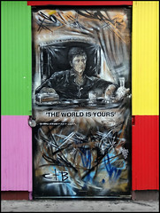 Don (Alex Ellison) Tags: urban streetart graffiti stencil don scarface eastlondon alpacino tonymontana theworldisyours pauldonsmith