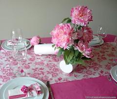 decoracion mesa flores peonias rosas (DecoracionMesas) Tags: de navidad san valentin mesas decoracion arreglos florales servilleteros wwwdecoracionmesascom