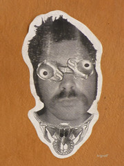Graff in Lyon (brigraff) Tags: pasteup collage sticker arte lyon papiercoll streetartart fz150 brigraff panasonicfz150