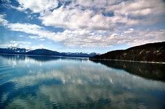 Smooth Glaicer Bay (janetfo747 ~ Pray for Peace) Tags: blue wild summer reflection water glass alaska bay day cloudy smooth inlet wilderness glaicerbay mygearandme mygearandmepremium mygearandmebronze mygearandmesilver mygearandmegold