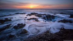 Sunset at Cape Perpetua (Eric Hines Photography) Tags: ocean longexposure sunset clouds landscape pacificocean pacificnorthwest capeperpetua centraloregoncoast 1635mmf28lii 5dmarkiii thorswell