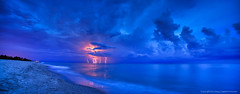 Lightning-Storm-at-Beach-Over-the-Atlantic-Ocean (Captain Kimo) Tags: storm pier fishing lightning highdynamicrange junobeach photomatixpro hdrphotography singleexposurehdr topazadjust topazdenoise captainkimo