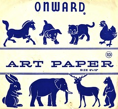 Onward Menagerie (Wires In The Walls) Tags: bear horse chicago elephant rabbit chicken animals puppy illinois student kitten deer 1950s packaging artpaper tencents lakesdiecentralcompany