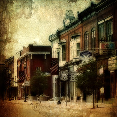 Down on Main Street (Nichole Renee) Tags: street buildings town mainstreet pennsylvania route6 distressedjewell kimklassen