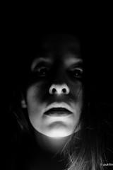 dark parts... (pukilin) Tags: nikond3100 bw 35mm dark light shadows face portrait selfportrait darkparts retrato autorretrato luz sombras cara bn yo myself