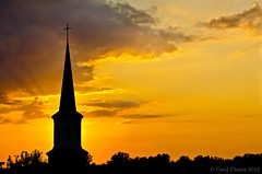 "Photo Challenge - ""Silhouette"" (cclontz) Tags: sunset sky sun color silhouette evening nikon sundown dusk d7000"