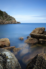 Penberth Bay [Explored] (Martin Mattocks (mjm383)) Tags: longexposure sky cloud seascape texture water rocks cornwall horizon smooth coastline penberthcove canoneos5dmarkii cornwalllandscapes mjm383 martinmattocksphotography