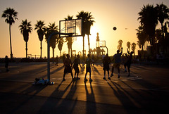 Sunset at Venice Beach Basketball Courts - Los Angeles CA (ChrisGoldNY) Tags: chrisgold chrisgoldny chrisgoldberg chrisgoldphotos chrisgoldphoto posters albumcover bookcover forsale la losangeles california southerncalifornia travel viajes whitemencantjump basketballs sunsets sports sunset shadows twtmeiconoftheday clear thechallengefactory gettyimages getty laist losangelestimes blog latimes palmtrees trees basketball courts cinematic cement people city urban jumping balls shots yourbestof2012 flickr westcoast friendlychallenges challengewinners factoryfinals factoryfinalschampion postcard greetingcard postcards life warmth alive greetingcards