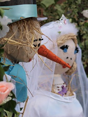 THE WEDDING--Published D.E.Telegraph 01/09/12 (johnb/Derbys/UK) Tags: wedding bride groom scarecrow festival fun english church old pagan hay harvest bloom colour countryside derbyshire derbyshireuk eyes female glam hair home howitis interesting interestingness life lovely myworld nice pov thelook views johnb england draycottwilnelane hot magik midlands summer tease view pose glamour lady portrait woman married published derby evening telegraph