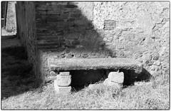 Bench at Gricignano (Monica Arellano-Ongpin) Tags: blackandwhite bench banco lightandshade gricignano sunnlight panasoniclumixlx5