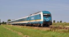223 063 Buchloe 14.08.2012 (hansvogel51) Tags: alex germany private deutschland eisenbahn buchloe eurorunner eisenbahnen vogtlandbahn br223 dieselloks siemenser20