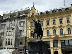 Josip Jelai statue (ilamya) Tags: statue square croatia zagreb plac trgbanajelaia jelai banjelaisquare