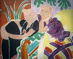 'The Conversation, 1938' by Henri Matisse (Greatest Paka Photography) Tags: sfmoma museum painting art theconversation henrimatisse artist museumofmodernart colorist pencillines color edges