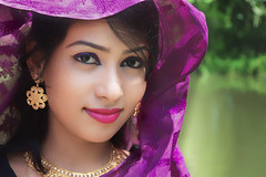 I see you beautiful (Robi@photo) Tags: girl bangladesh bangladeshi woman female fashion portrait face shari ornaments