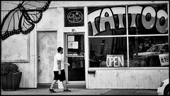 Next Customer (alhawley) Tags: 2016 american bw k01 smcpentaxm50mmf17 usa blackandwhite candid cinematic everytownusa justpentax manualexposure manualfocus monochrome pentaxk01 pentaxlife photojournalism street streetphotography 50mm
