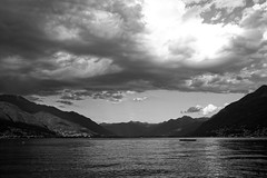 Think over (Matrec) Tags: lake clouds mountain water landscape sunset lanca beach switzerland