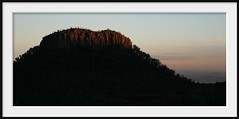 in the distance (Andrew C Wallace) Tags: biglap08 mountkaputar nsw australia dusk mountain sunset granite volcano geology