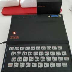 Sinclair ZX81. Can still power up. No monitor to connect to. 16Kb ram extension in the back. (alexq2012) Tags: instagramapp square squareformat iphoneography uploaded:by=instagram sinclair zx81