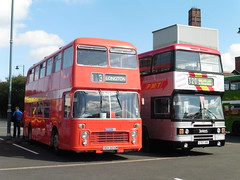 OEH 604M + G757 XRE (North West Transport Photos) Tags: pmt bristol vr bristolvr oeh604m potteriesmotortraction leyland olympian leylandolympian ecw easterncoachworks g757xre 757 30033 firstpotteries preservedbus bus potteriesrunningday
