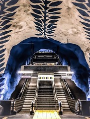 Stockholm | Underground Art (DILADIDA) Tags: sweden visitsweden stockholm underground art undergroundart subway metro metrostation station color tcentralen lights