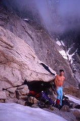 Bivouac at the Rognon des Drus (andywalker1) Tags: andrewwalker americandirect dru petitdru chamonix alps alpineclimbing