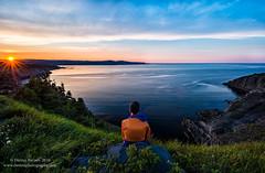 Newfoundland (Dwood Photography) Tags: newfoundland 2016 self selfie dwoodphotography dwoodphotographycom cotopaxi orange blue sunset coast atlantic ocean atlanticocean green pink purple hunchback