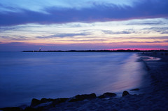 Solstice Sunset 2016, Cape May NJ (davegardner0) Tags: cape may capemay ektar sunset beach fuji gw690 mediumformat film kodak landscape outdoor shore water cove