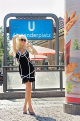 Berlin-Alexanderplatz (DZ-fotografia - 13 Million views, Thx) Tags: long hair blonde sexy woman lady mini dress berlin summer legs heels