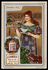 Liebig Tradecard S764 - Serving Game (cigcardpix) Tags: tradecards advertising ephemera vintage liebig chromo artnouveau