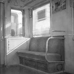 in the train (Ghana.junk) Tags: fujineopanss yashica44lm yashinon60mmf35