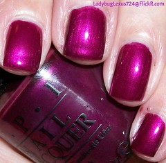 OPI Kiss Me or Elf (ladybuglexus724) Tags: purple nail polish lacquer pink red holographic opi orly china glaze revlon finger paints