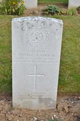 CWGC Captain John C. Lauder. (greentool2002) Tags: ovillers cwgc cemetery somme battlefield commonwealth war graves france 2016 battle captain john g lauder sir harry dame annie argyll sutherland highlanders