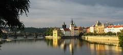 pano prague (fafisavoie) Tags: prague panoramique sunset fleuve pont soleil couchant