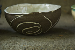 small bowl dark clay white glaze (karenchristine552) Tags: utata:project=goarts ceramics clay pottery universitycity utata:entry=1 westphiladelphia