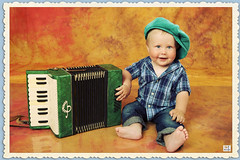 - (MissSmile) Tags: music baby color cute smile studio kid child sweet framed vivid accordion props misssmile