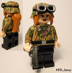 Panzer Soldier 1943 WWII LEGO (MR. Jens) Tags: world two girl germany soldier war pattern lego wwii german swamp ww2 43 1943 panzer stug brickarms tt33 sumpfmunster