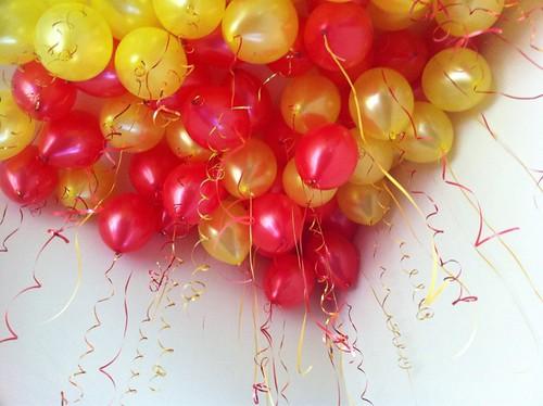 Heliumballonnen Rood en Geel