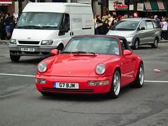 Carrera 2 Targa (kenjonbro) Tags: uk red england london westminster 911 trafalgarsquare convertible porsche cabrio charingcross 1990 sw1 targa 964 h6 carrera2 kenjonbro 3600cc fujihs10 worldpride2012 g7bjm