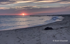 Cape May Sunset (scottnj) Tags: ocean sunset beach water clouds newjersey sand nj capemay scottnj scottodonnellphotography
