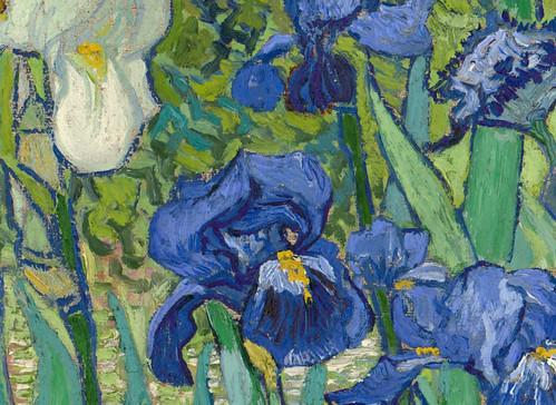 Vincent van Gogh  Irises   detail  1889Van Gogh Irises Getty