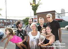 Woody Guthrie family and friends visit site of his Coney Island Home (Coney Island History Project) Tags: coneyisland centennial billybragg steveearle 100thbirthday woodyguthrie timrobbins centenary mermaidavenue coneyislandhistoryproject noraguthrie