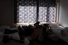 Keshotellielm (ZeiR) Tags: city morning light window june wall canon suomi finland table hotel bed room helmet sigma can stuff sheet cheap jyvskyl jkl 661 harju summerhotel keshotelli keshotelliharju